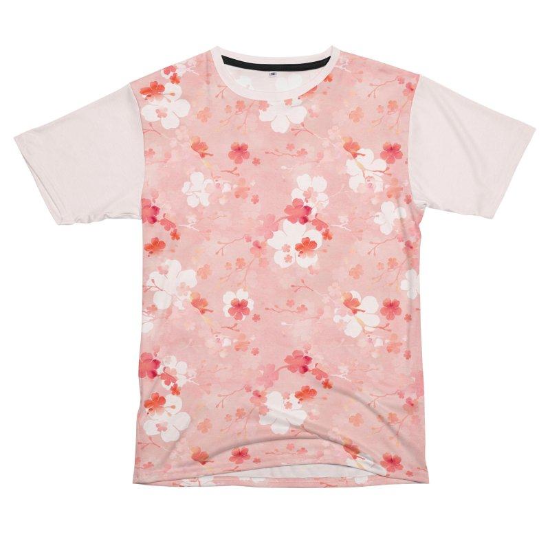 Pink Chinese cherry blossom Women's Unisex T-Shirt Cut & Sew by AdenaJ