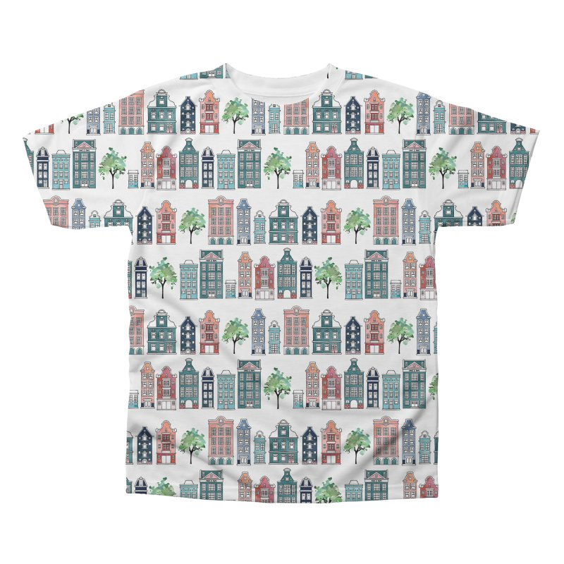 Amsterdam Neighbourhood Men's Regular All Over Print by AdenaJ