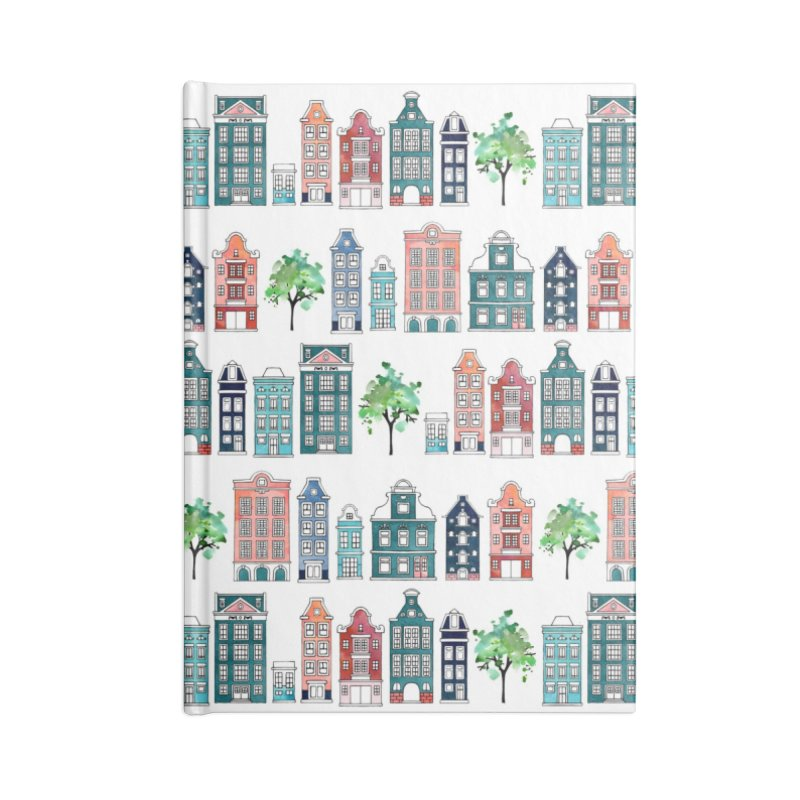 Amsterdam Neighbourhood in Blank Journal Notebook by AdenaJ
