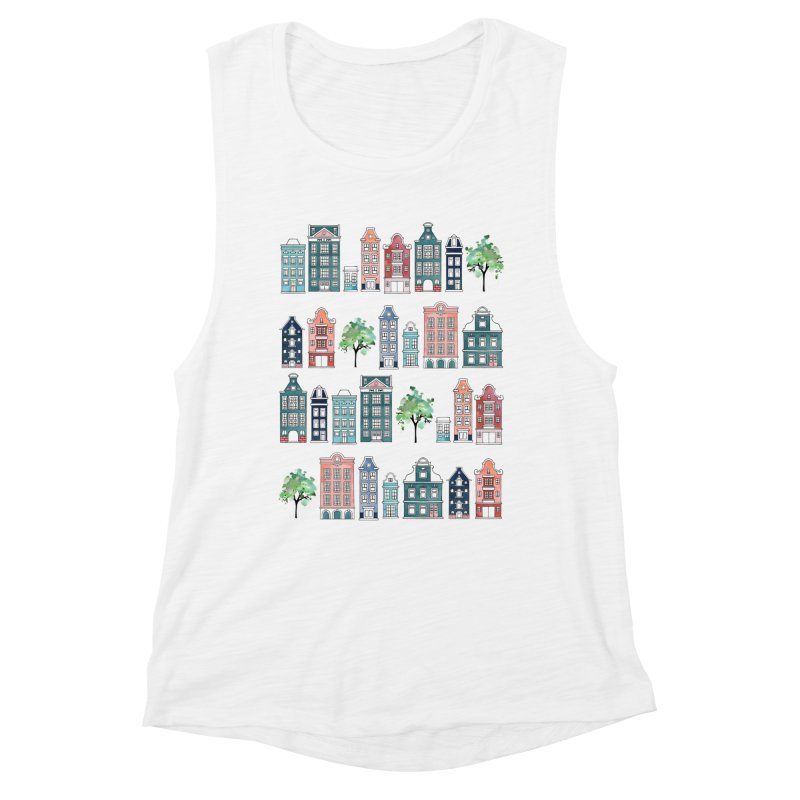 Amsterdam Neighbourhood Women's Muscle Tank by AdenaJ