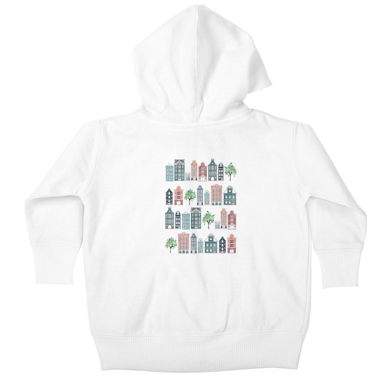 Amsterdam Neighbourhood Kids Baby Zip-Up Hoody by AdenaJ