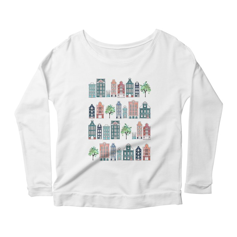 Amsterdam Neighbourhood Women's Scoop Neck Longsleeve T-Shirt by AdenaJ