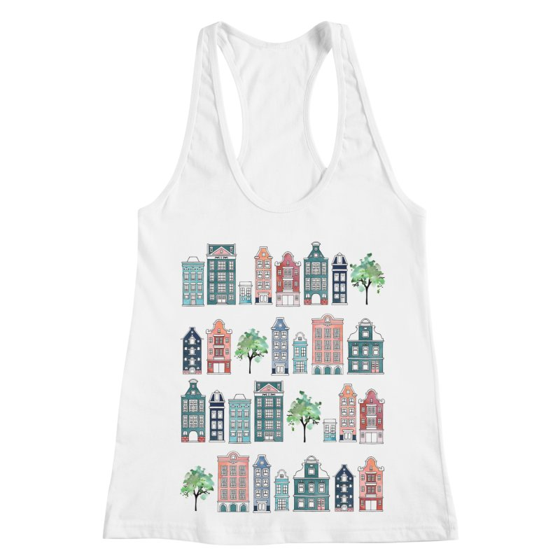 Amsterdam Neighbourhood Women's Racerback Tank by AdenaJ