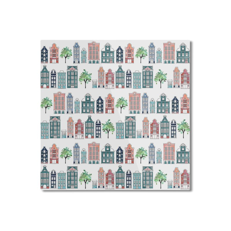 Amsterdam Neighbourhood Home Mounted Aluminum Print by AdenaJ