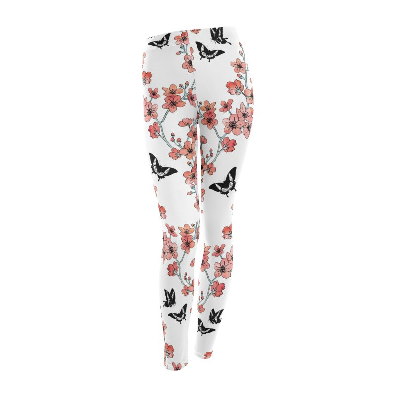 Sakura butterfly Women's Leggings Bottoms by AdenaJ