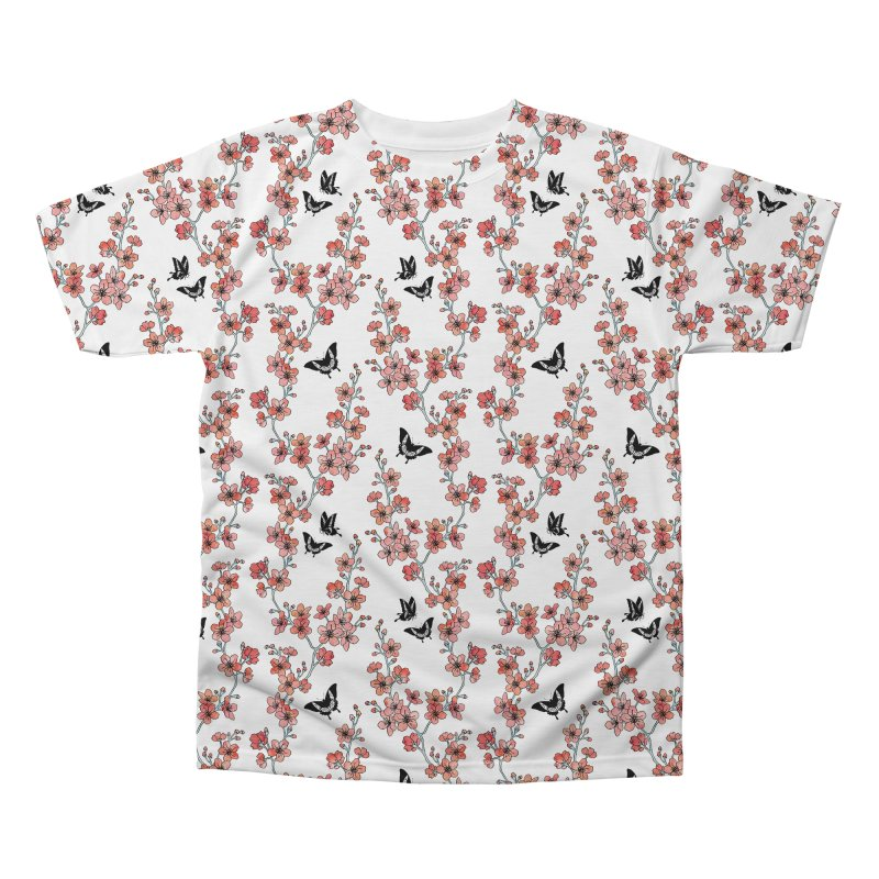 Sakura butterfly Men's Regular All Over Print by AdenaJ