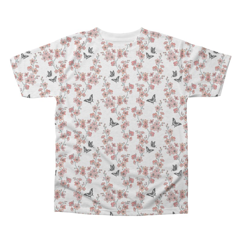 Sakura butterfly Men's Triblend All Over Print by AdenaJ