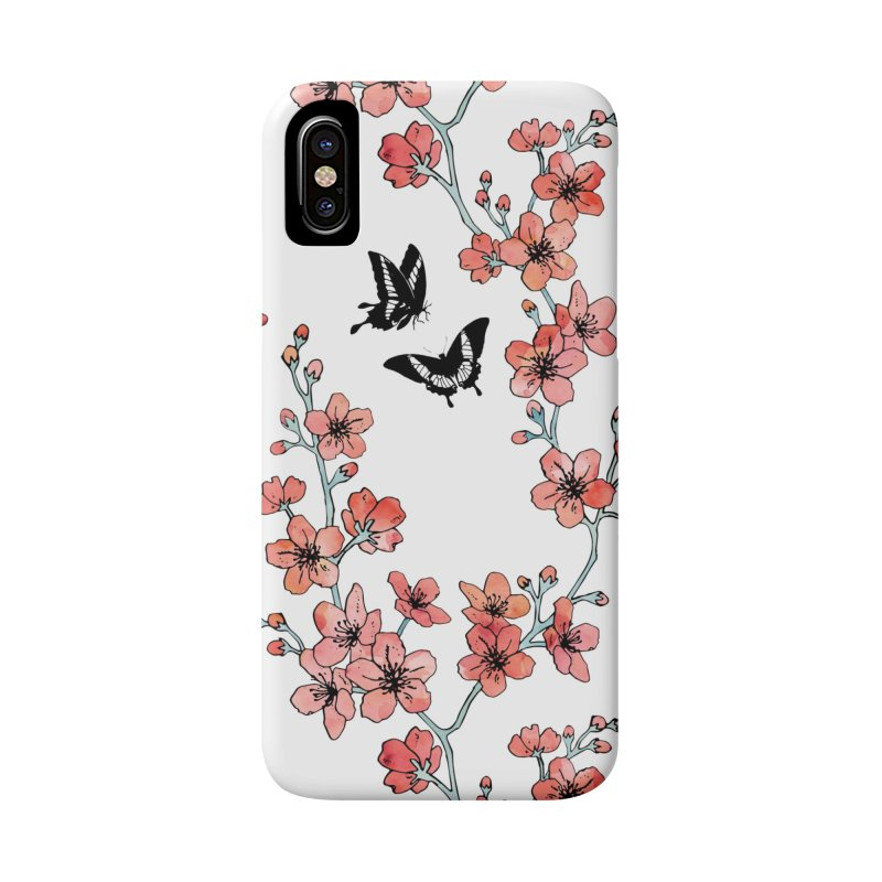 Sakura butterfly in iPhone X / XS Phone Case Slim by AdenaJ