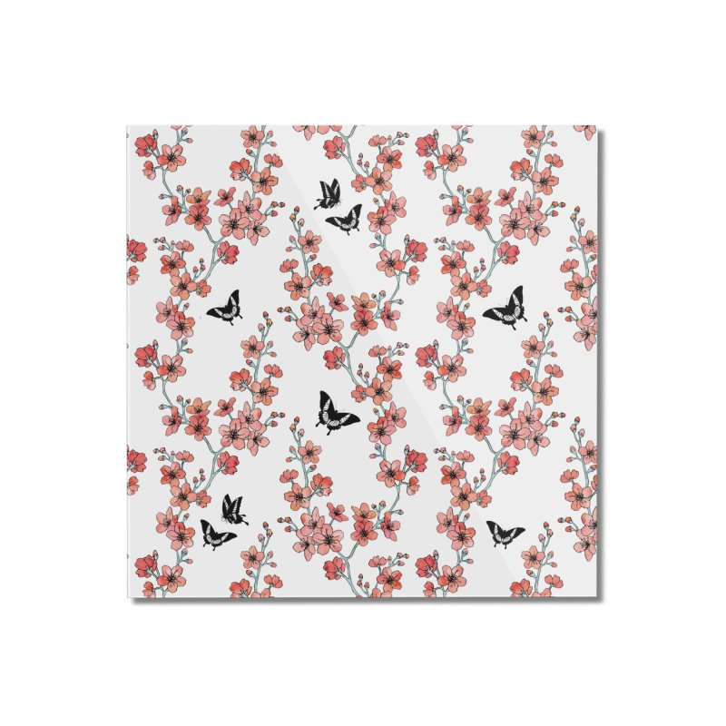 Sakura butterfly Home Mounted Acrylic Print by AdenaJ