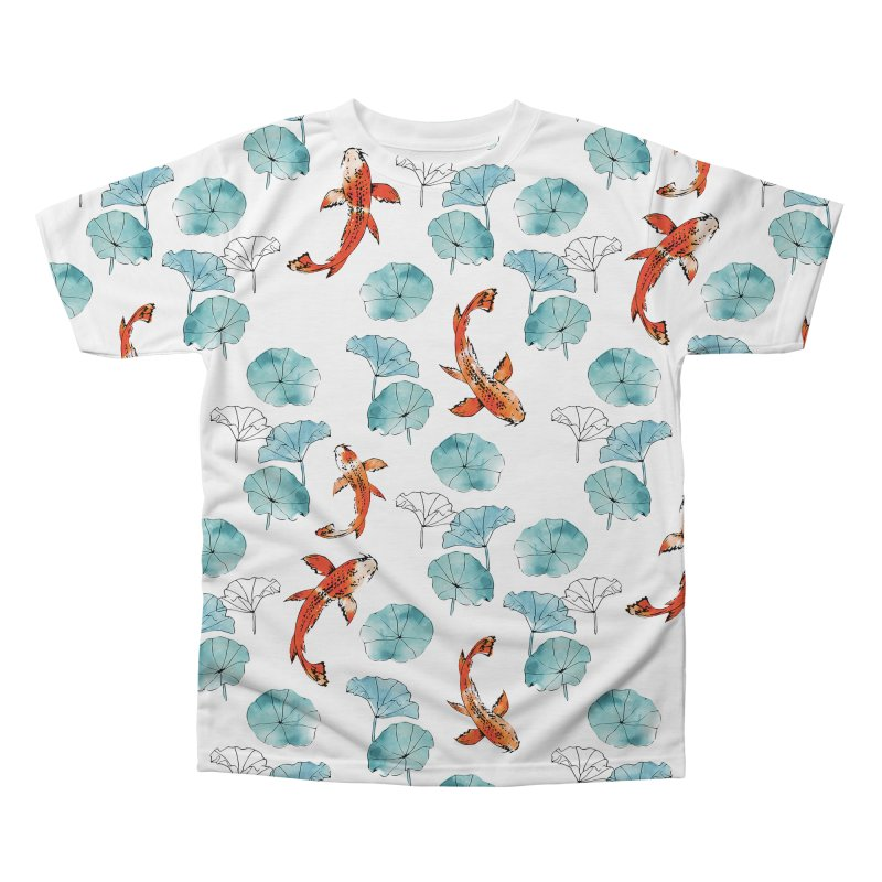 Waterlily koi Men's Regular All Over Print by AdenaJ