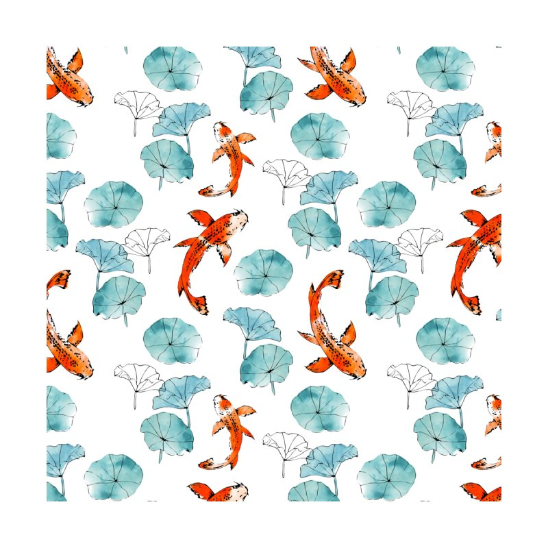 Waterlily koi Home Blanket by AdenaJ