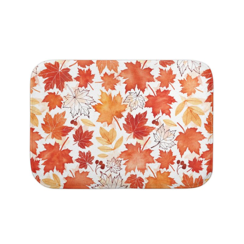 Autumn Leaves Home Bath Mat by AdenaJ