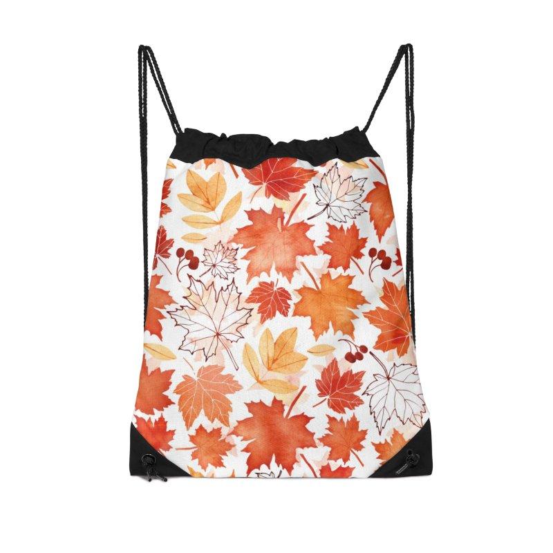Autumn Leaves Accessories Drawstring Bag Bag by AdenaJ
