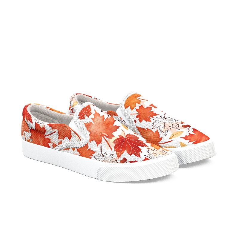 Autumn Leaves Women's Slip-On Shoes by AdenaJ