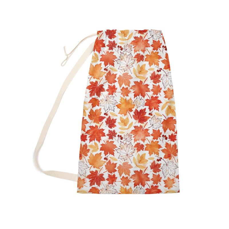 Autumn Leaves Accessories Laundry Bag Bag by AdenaJ