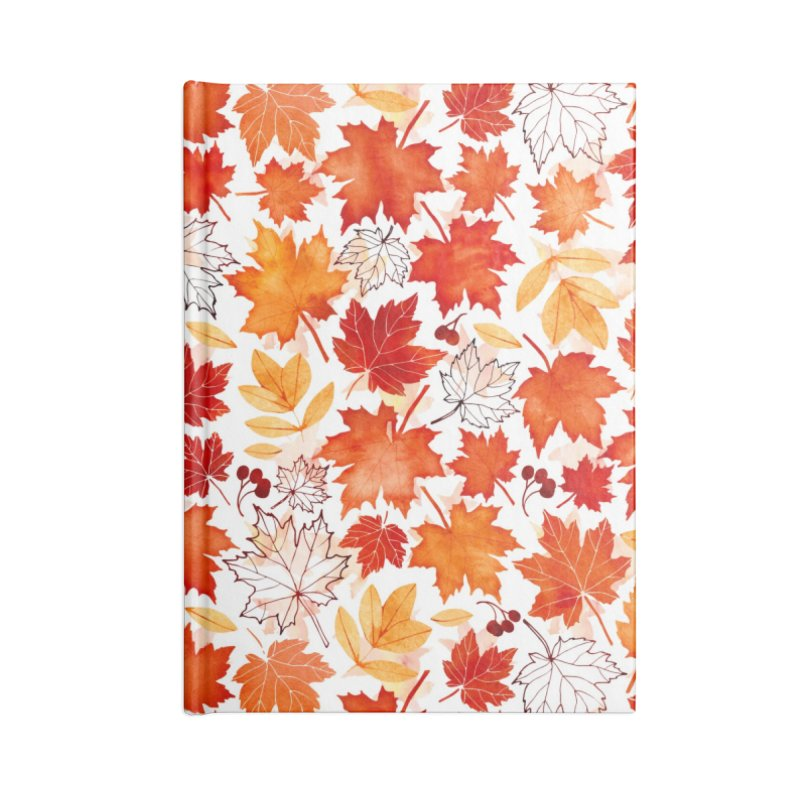 Autumn Leaves Accessories Lined Journal Notebook by AdenaJ