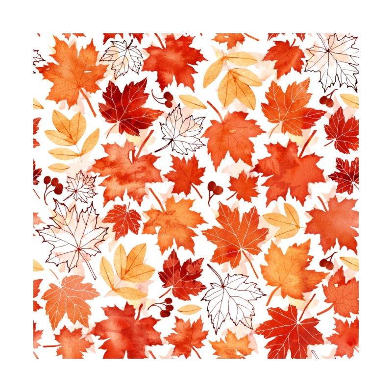 Autumn Leaves Accessories Bag by AdenaJ