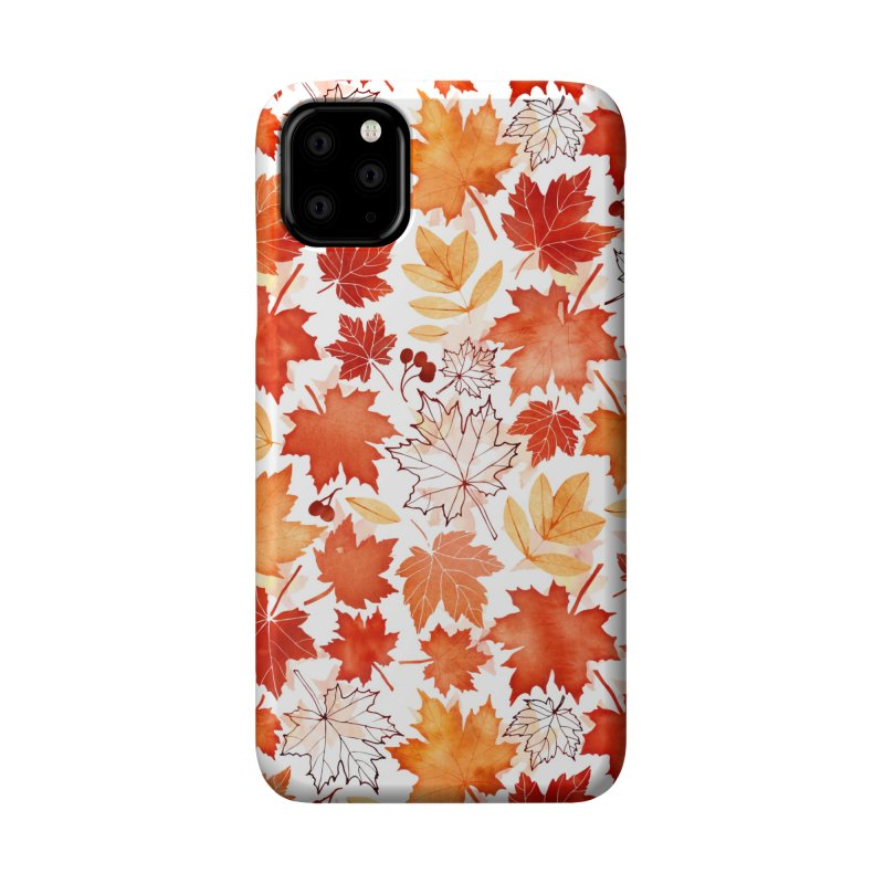 Autumn Leaves Accessories Phone Case by AdenaJ