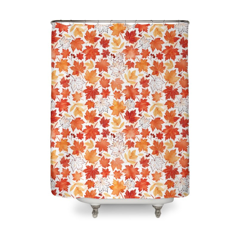 Autumn Leaves Home Shower Curtain by AdenaJ