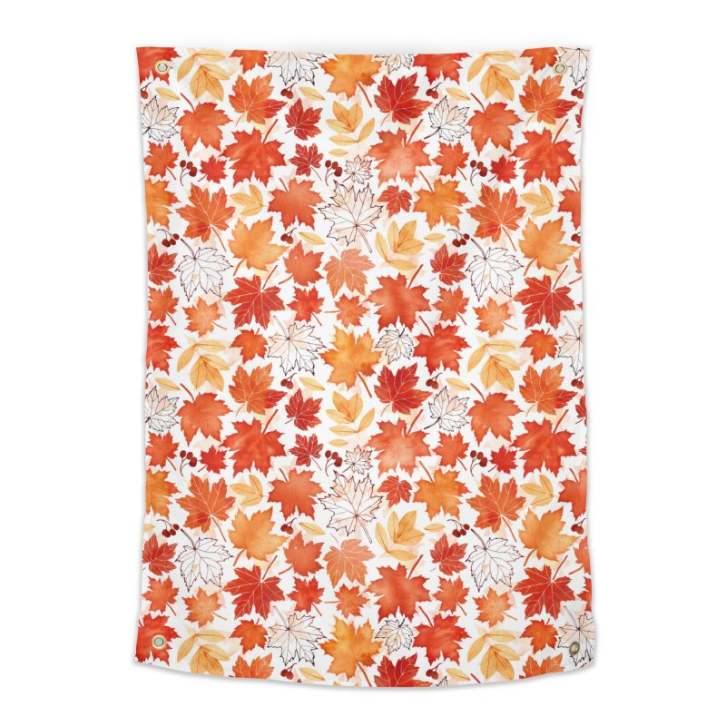 Autumn Leaves Home Tapestry by AdenaJ