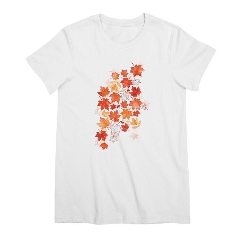 Autumn Leaves Women's Premium T-Shirt by AdenaJ