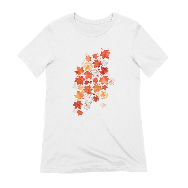 Autumn Leaves Women's Extra Soft T-Shirt by AdenaJ