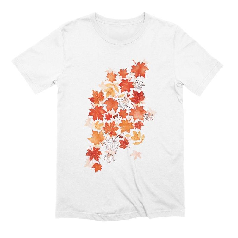 Autumn Leaves Men's Extra Soft T-Shirt by AdenaJ