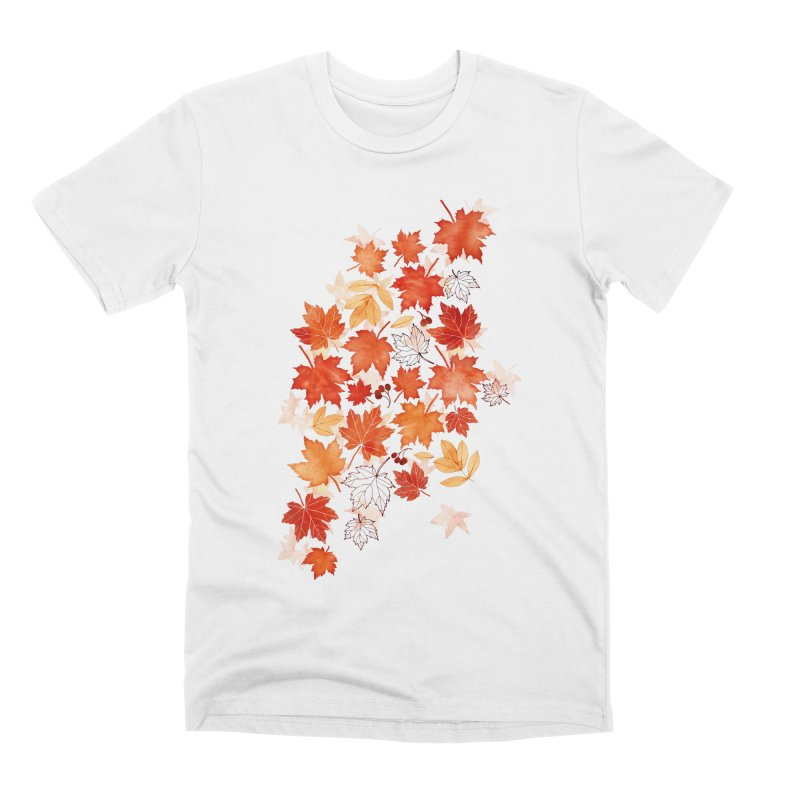 Autumn Leaves Men's Premium T-Shirt by AdenaJ