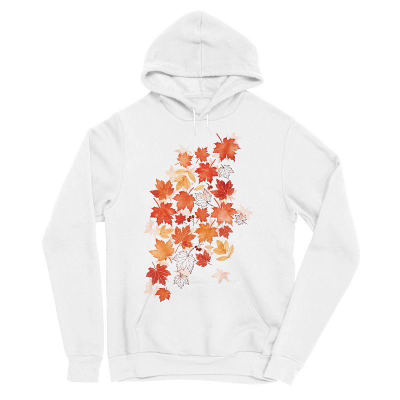 Autumn Leaves Women's Sponge Fleece Pullover Hoody by AdenaJ