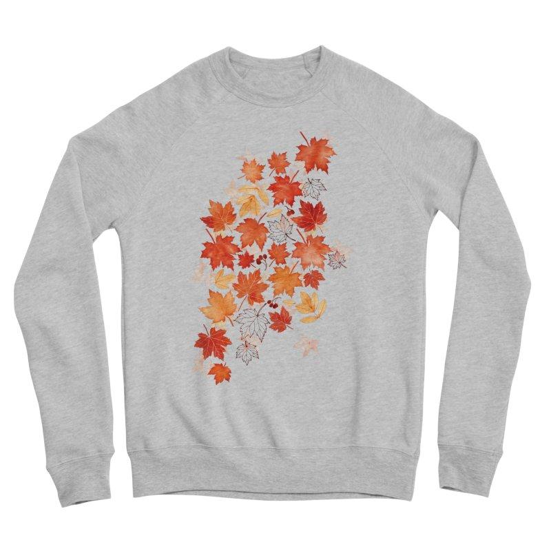 Autumn Leaves Women's Sponge Fleece Sweatshirt by AdenaJ