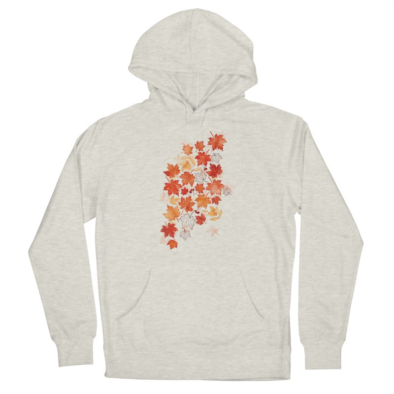 Autumn Leaves Men's French Terry Pullover Hoody by AdenaJ