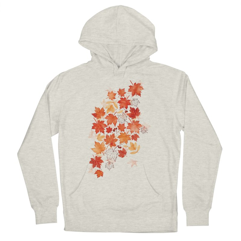 Autumn Leaves Women's French Terry Pullover Hoody by AdenaJ