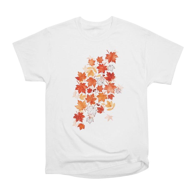 Autumn Leaves Women's Heavyweight Unisex T-Shirt by AdenaJ