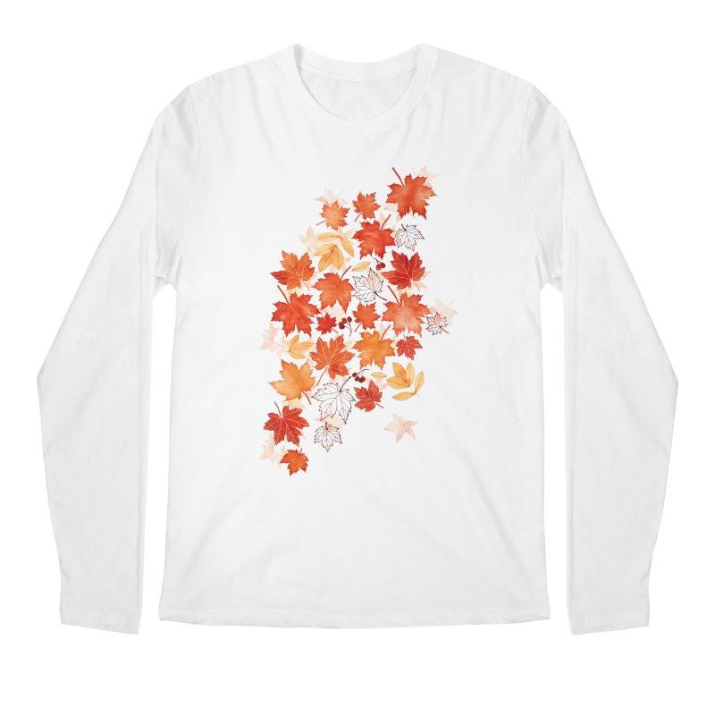 Autumn Leaves Men's Regular Longsleeve T-Shirt by AdenaJ