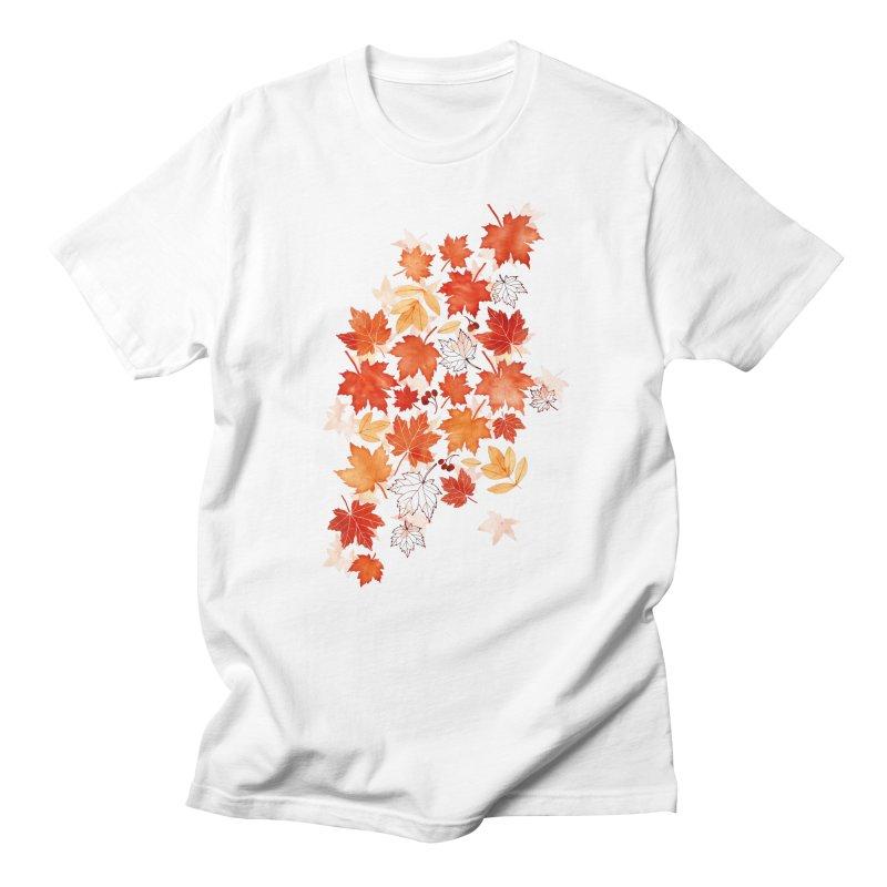 Autumn Leaves Men's Regular T-Shirt by AdenaJ