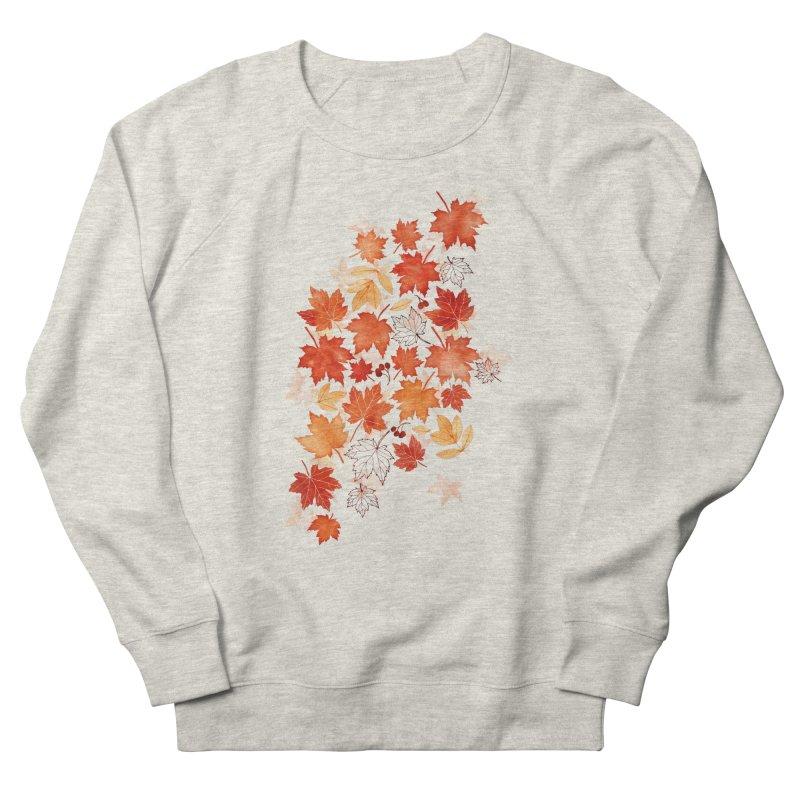 Autumn Leaves Women's French Terry Sweatshirt by AdenaJ