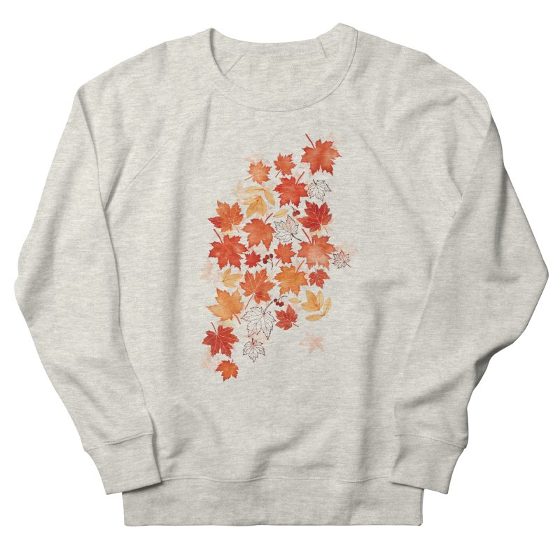 Autumn Leaves Men's French Terry Sweatshirt by AdenaJ