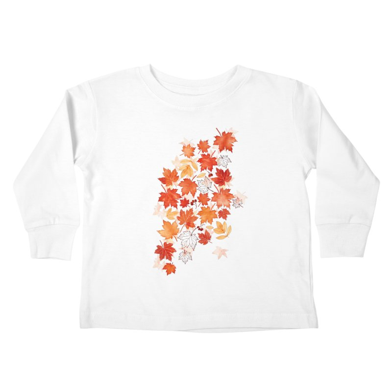 Autumn Leaves Kids Toddler Longsleeve T-Shirt by AdenaJ