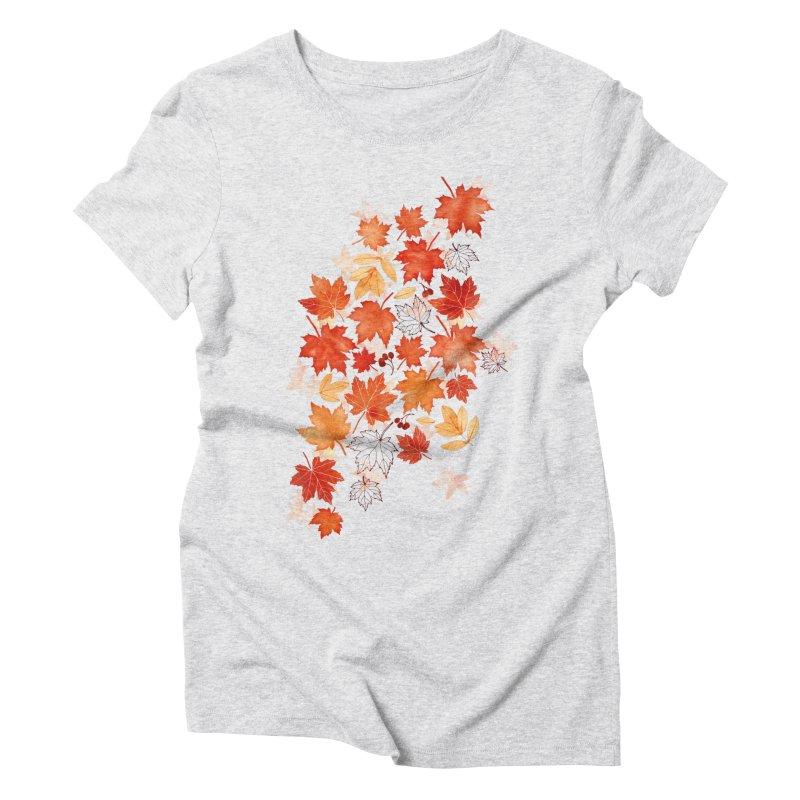 Autumn Leaves Women's Triblend T-Shirt by AdenaJ