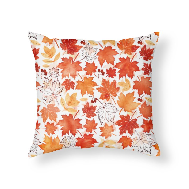 Autumn Leaves Home Throw Pillow by AdenaJ