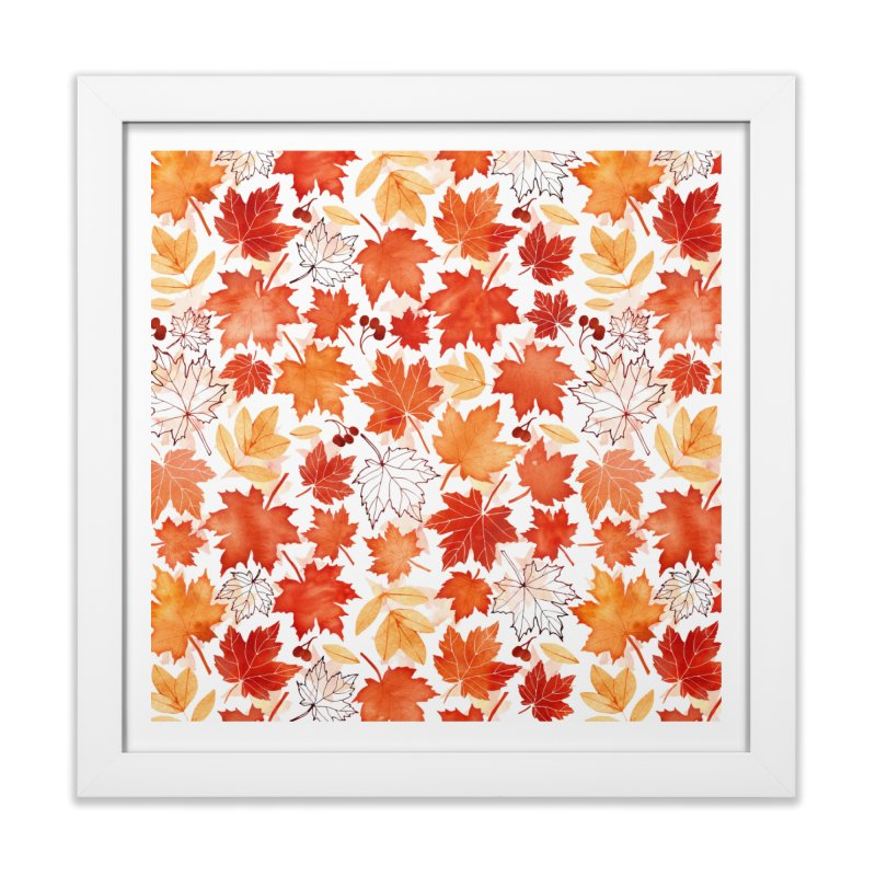 Autumn Leaves Home Framed Fine Art Print by AdenaJ