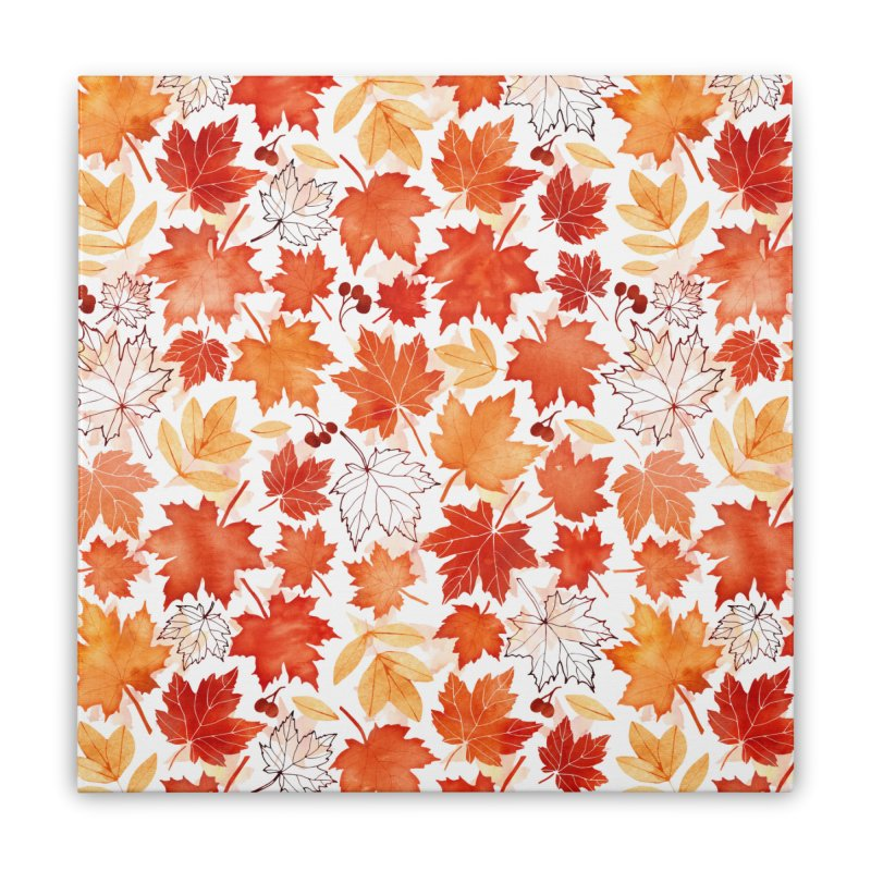Autumn Leaves Home Stretched Canvas by AdenaJ