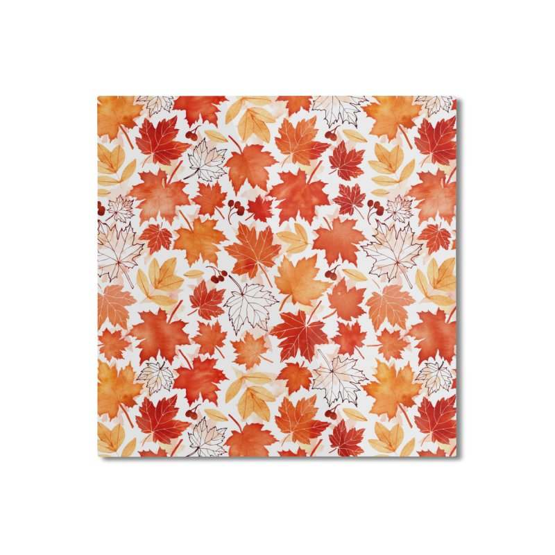 Autumn Leaves Home Mounted Aluminum Print by AdenaJ