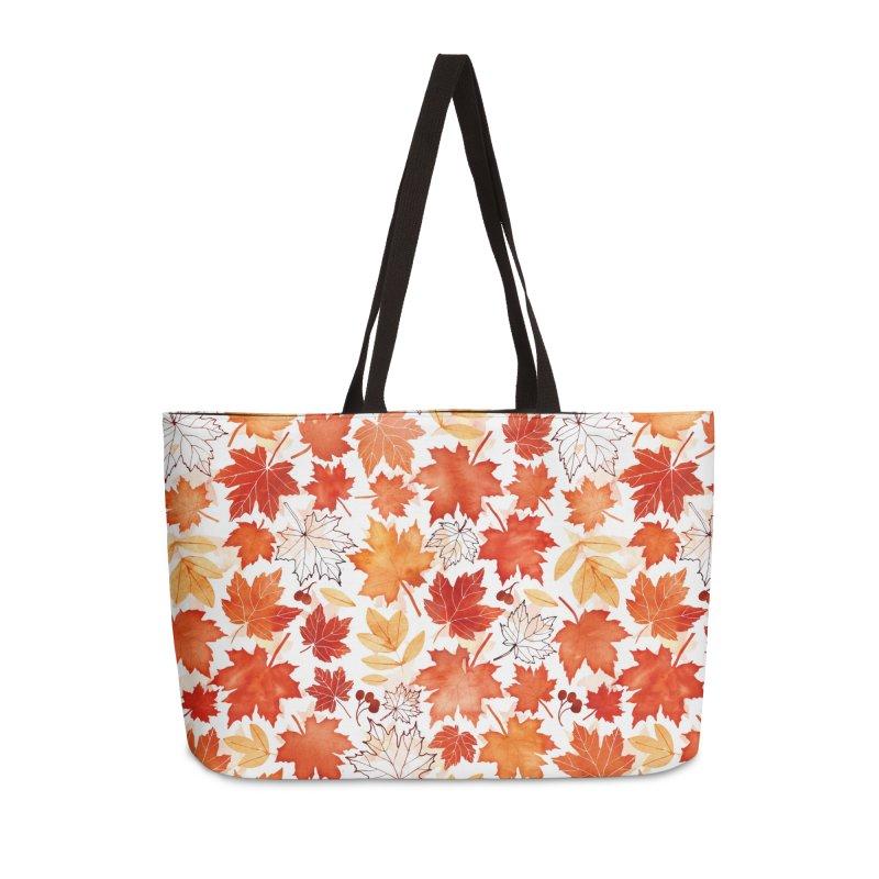 Autumn Leaves Accessories Weekender Bag Bag by AdenaJ