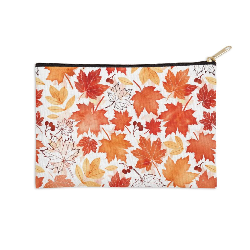 Autumn Leaves Accessories Zip Pouch by AdenaJ