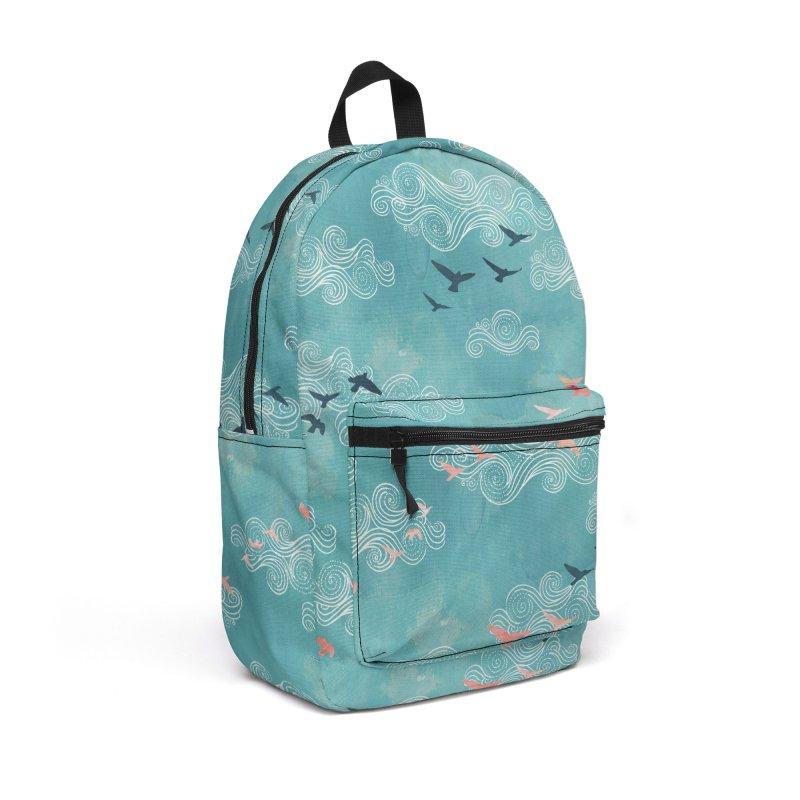 Blue Sky Birds Accessories Backpack Bag by AdenaJ