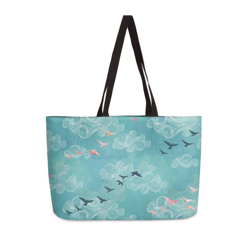 Blue Sky Birds Accessories Weekender Bag Bag by AdenaJ