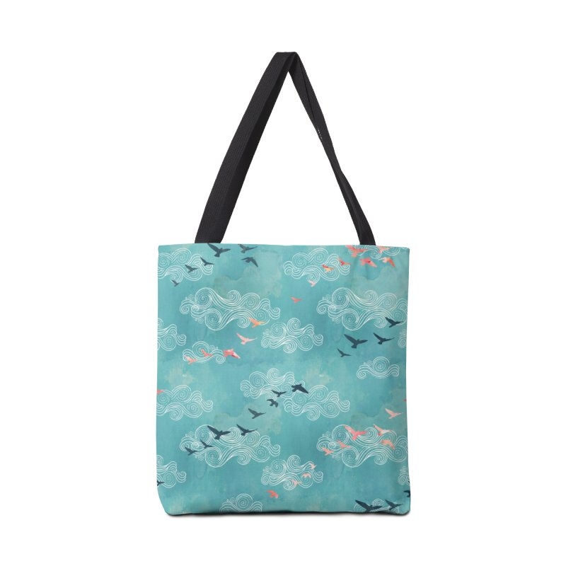 Blue Sky Birds Accessories Tote Bag Bag by AdenaJ