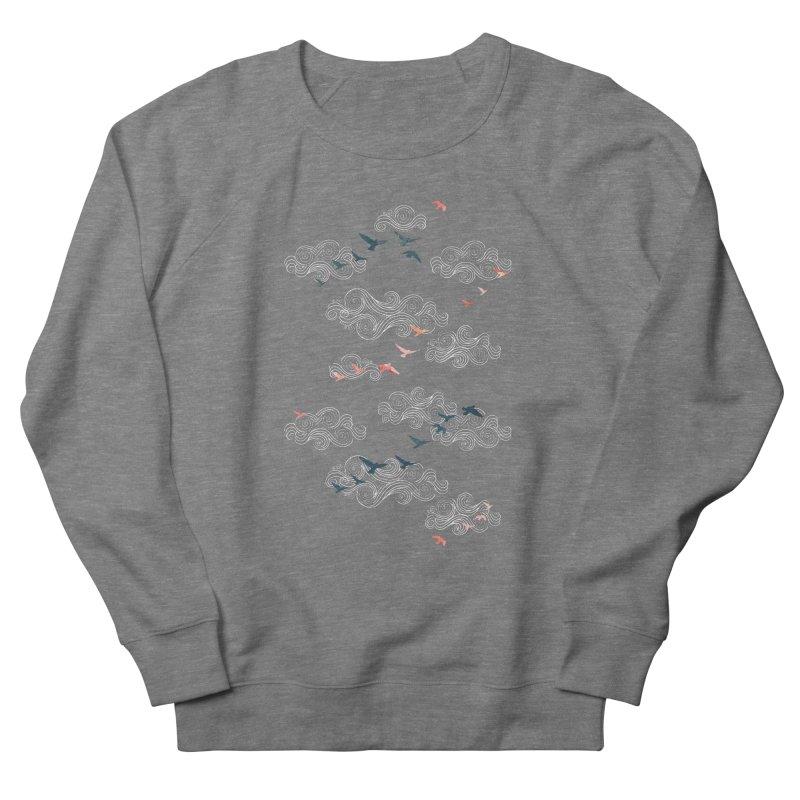 Blue Sky Birds Women's French Terry Sweatshirt by AdenaJ