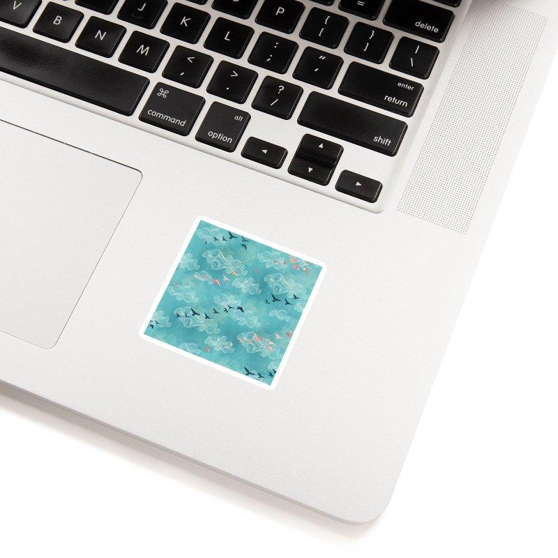 Blue Sky Birds Accessories Sticker by AdenaJ